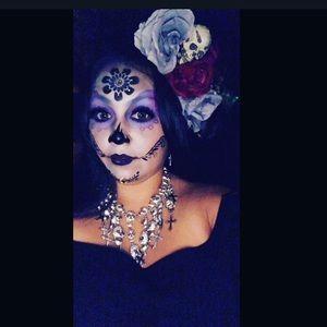 Accessories - dia los muertos skull bling necklace